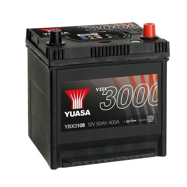 Yuasa 12V 50Ah SMF Battery Japan YBX3108 (0)