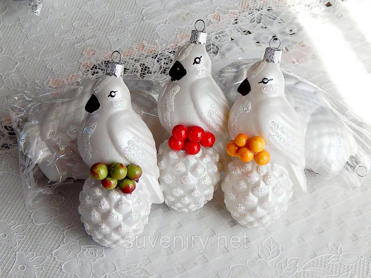 Елочная красивая новогодняя игрушка фигурка снегирь