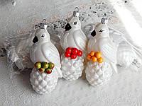 Елочная красивая новогодняя игрушка фигурка снегирь, фото 1