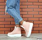 Женские зимние пудровые ботинки, из натуральной кожи  36 ПОСЛЕДНИЙ РАЗМЕР, фото 4