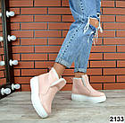 Женские зимние пудровые ботинки, из натуральной кожи  36 ПОСЛЕДНИЙ РАЗМЕР, фото 5