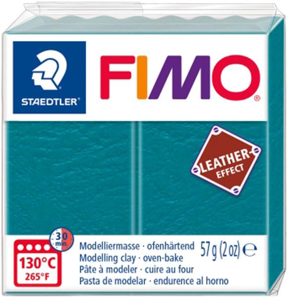 Пластика Leather-effect, Морская волна, 57 грамм, Fimo