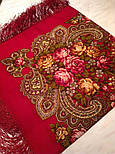 Незнакомка 779-5, павлопосадский платок шерстяной  с шелковой бахромой, фото 3