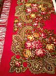 Незнакомка 779-5, павлопосадский платок шерстяной  с шелковой бахромой, фото 4