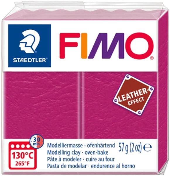 Пластика Leather-effect, Рожева, 57 грам, Fimo
