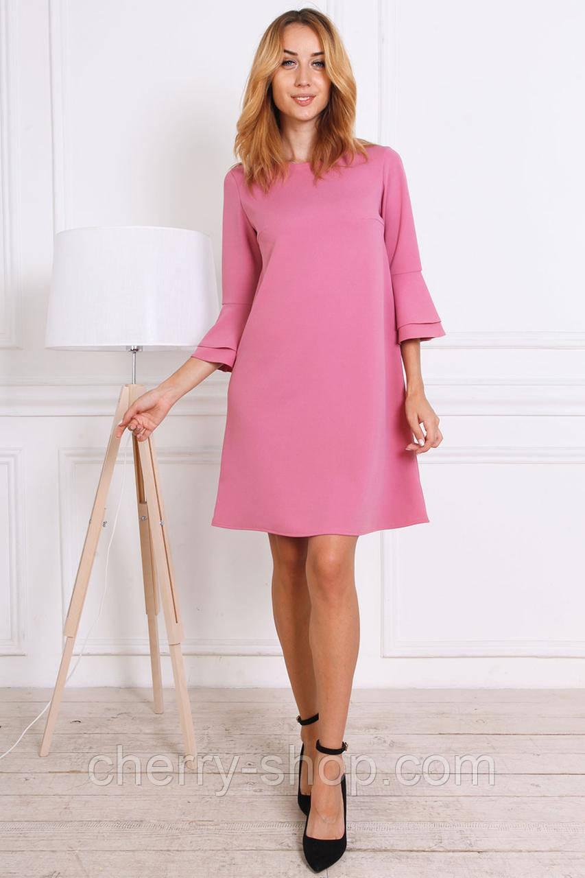Красивое платье молодежное розового цвета