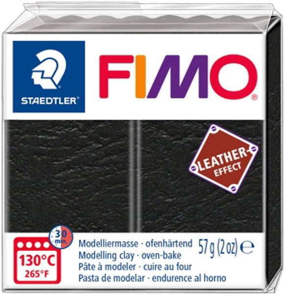 Пластика Leather-effect, Черная, 57 грамм, Fimo