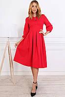 Нарядное красное женское платье