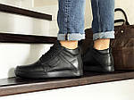 Чоловічі черевики Vankristi (чорні) ЗИМА, фото 4