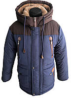 Качественная и теплая зимняя куртка для мальчика, р. 140-158