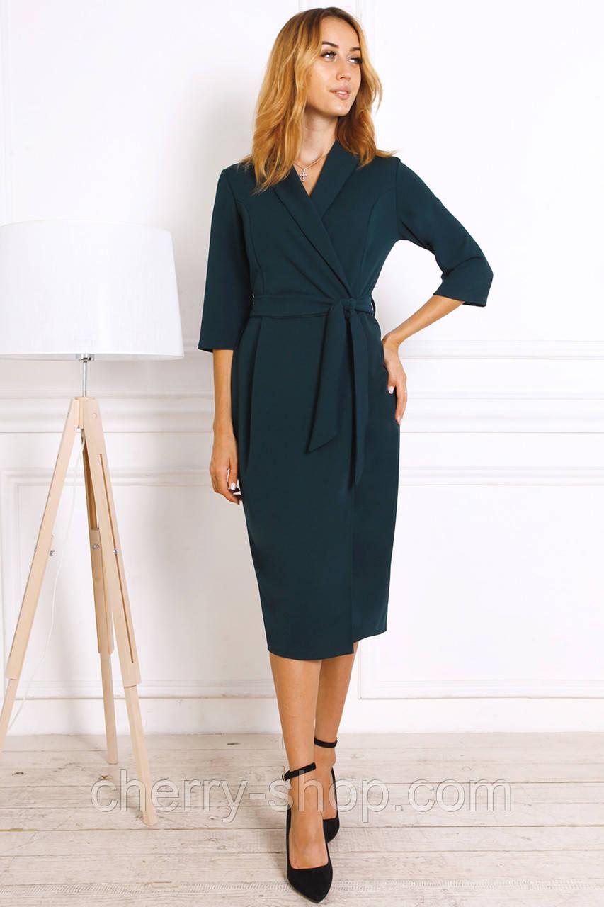Офисное демисезонное платье женское