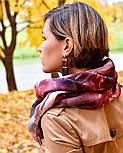 10508-1, павлопосадский платок шерстяной (разреженная шерсть) с швом зиг-заг, фото 9