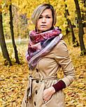 10508-1, павлопосадский платок шерстяной (разреженная шерсть) с швом зиг-заг, фото 10
