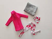 Набор одежды для Барби Игра с модой - Пальто, легинсы, шапка, шалик, фото 7
