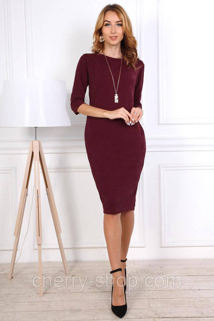 Полубатальное женское трикотажное платье
