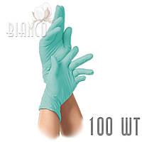 Перчатки Polix PRO & MED нитриловые (100шт), Green Mint/мятный