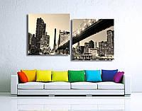 "Модульная картина от 100х55 см до 200х109 см на холсте ""Нью-Йорк"". От производителя"