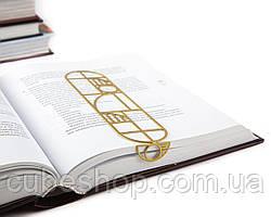 Закладка для книг Баухауз (золотой)