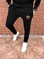 Мужские зимние спортивные штаны на флисе, чоловічі зимові спортивні штани Адидас, Реплика