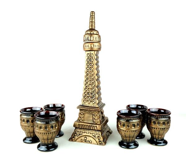 Башня Эйфеля - набор для вина, бутылка с бокалами