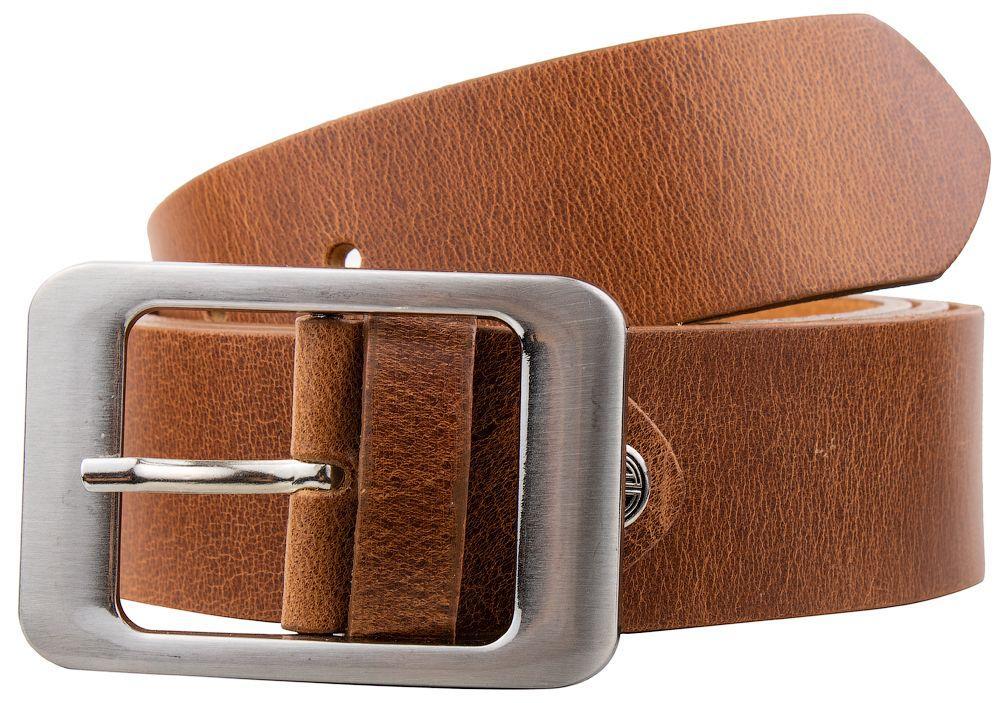 Женский кожаный ремень Lindenmann коричневый