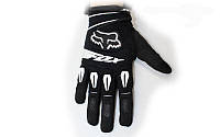 Мотоперчатки текстильные FOX M-4540-BK(L) (закр.пальцы, р-р L, черный)