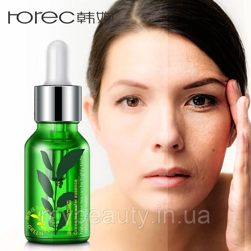 Сыворотка для лица с экстрактом зеленого чая увлажняющая Rorec Green Tea Water Essence (15мл)