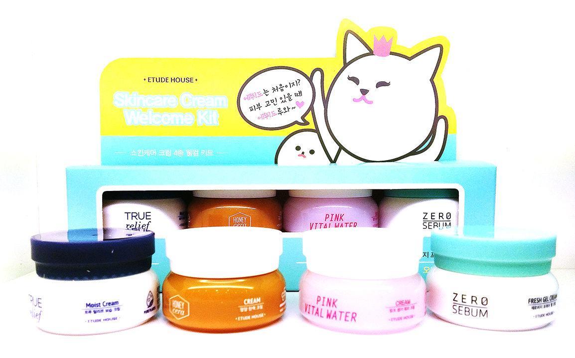 Набор кремов для улучшения и оздоровления кожи Etude House Cream Minimi Kit 4ea 10 мл х 4 шт