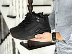Зимові кросівки Nike Huarache (чорно-коричневі), фото 3
