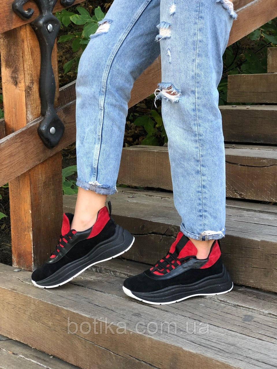 Серые и красные! Стильные женские кроссовки