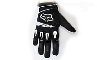 Мотоперчатки текстильные FOX M-4540-BK(М) (закр.пальцы, р-р L, черный)