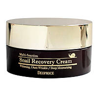 Восстанавливающий улиточный крем с муцином улитки Deoproce Snail Recovery Cream
