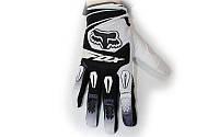 Мотоперчатки текстильные FOX M-4540-BW(L) (закр.пальцы, р-р L, черный-белый)
