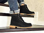 Чоловічі черевики Timberland (чорно-коричневі) ЗИМА, фото 3