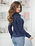 Женская классическая блузка коттон длинный рукав размер: 42, 44, 46, 48, фото 5