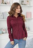 Женская классическая блузка коттон длинный рукав размер: 42, 44, 46, 48, фото 6