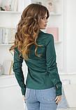 Женская классическая блузка коттон длинный рукав размер: 42, 44, 46, 48, фото 7