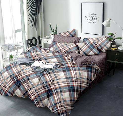 Двуспальный комплект постельного белья евро 200*220 Сатин Люкс (12899) TM КРИСПОЛ Украина, фото 2