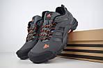 Чоловічі кросівки Adidas Climaproof (сіро-помаранчеві), фото 5