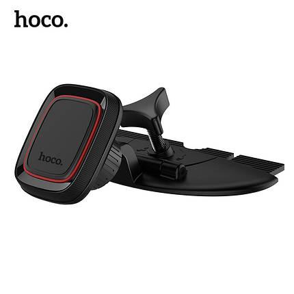 Автодержатель магнитный Hoco CA25 Lotto series в CD слот (Черный), фото 2