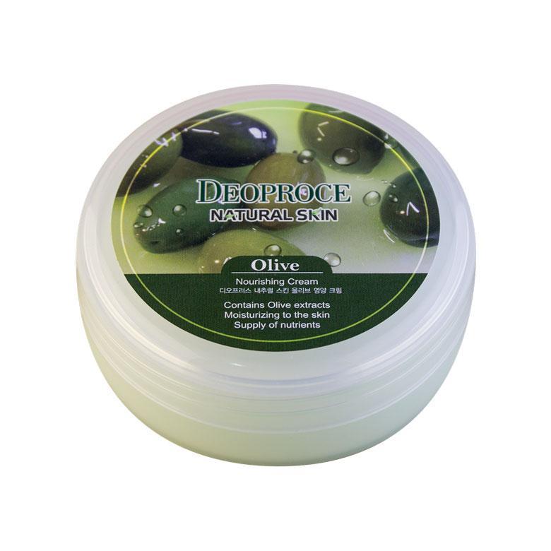 Крем для лица и тела с маслом оливы Deoproce Natural Skin Olive