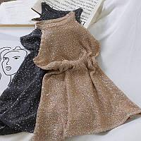 Вязанное платье женское с пайетками