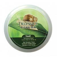 Крем для лица и тела с улиточным экстрактом Deoproce Natural Skin Snail Nourishing Cream, фото 1