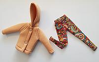 Набор одежды для Барби Игра с модой -  Куртка, легинсы с принтом орнамент, фото 6