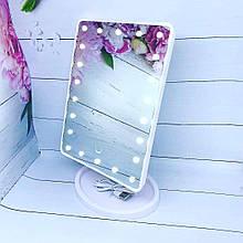 Дзеркало з підсвічуванням для макіяжу 22 led - біле