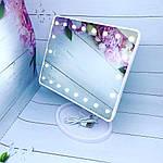 Зеркало с подсветкой для макияжа 22 led - белое, фото 2