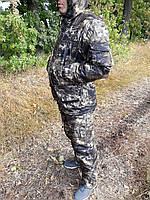 Демисезонный камуфляжный костюм для охоты и рыбалки на флисе болото