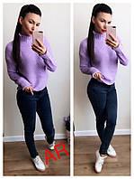 Свитер женский стильный, теплый, фиолетовый, 504-112