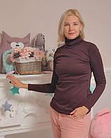"""Уютный свитер - водолазка  """"ForKids"""" шоколад с секретом для кормящих мам, фото 1"""