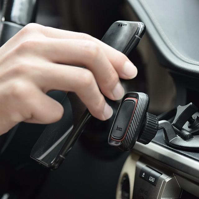 Автодержатель магнитный для телефона Hoco CA28 Happy Journey в CD слот проигрователя Черный